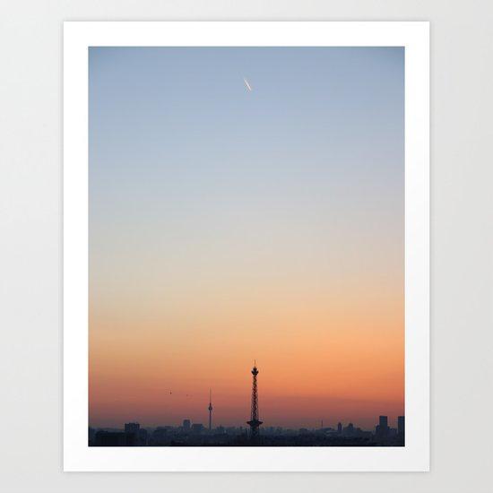 skyline berlin Art Print