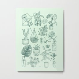 PLANTS LOVER Metal Print