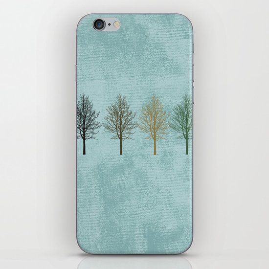 Four Colors Trees iPhone & iPod Skin