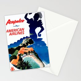Acapulco - Vintage Air Travel Poster Stationery Cards