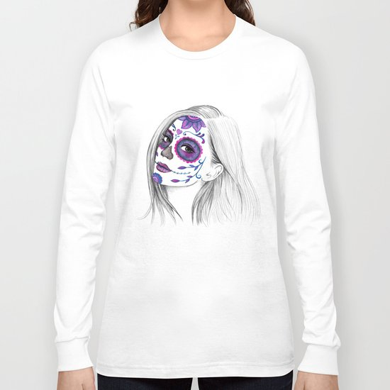 Sugar Skull Girl Long Sleeve T-shirt