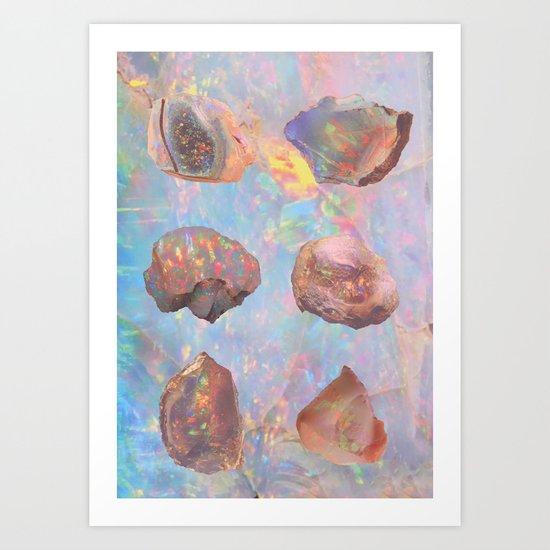 OPAL STUDY Art Print