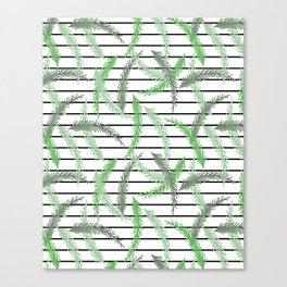 Stripes and Sprigs Canvas Print