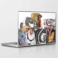 stanley kubrick Laptop & iPad Skins featuring Stanley Park Totems by Kirsten Neil