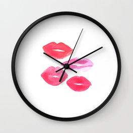 MAKEUP PRINT Shabby Chic Decor Pink Lips Print Printable Art Poster Gallery Art print Wall Clock