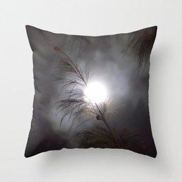 Full Moon Branch Throw Pillow
