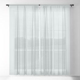 NOW SPA BLUE solid color! Sheer Curtain