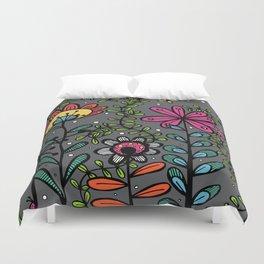 Weird and wonderful (Garden) - fun floral design, nature, flowers Duvet Cover