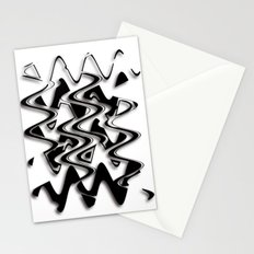 Abstraction in black and white CB Stationery Cards