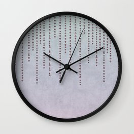 Sparkling Faux Glitter Soft Pastel Pink and Teal Wall Clock