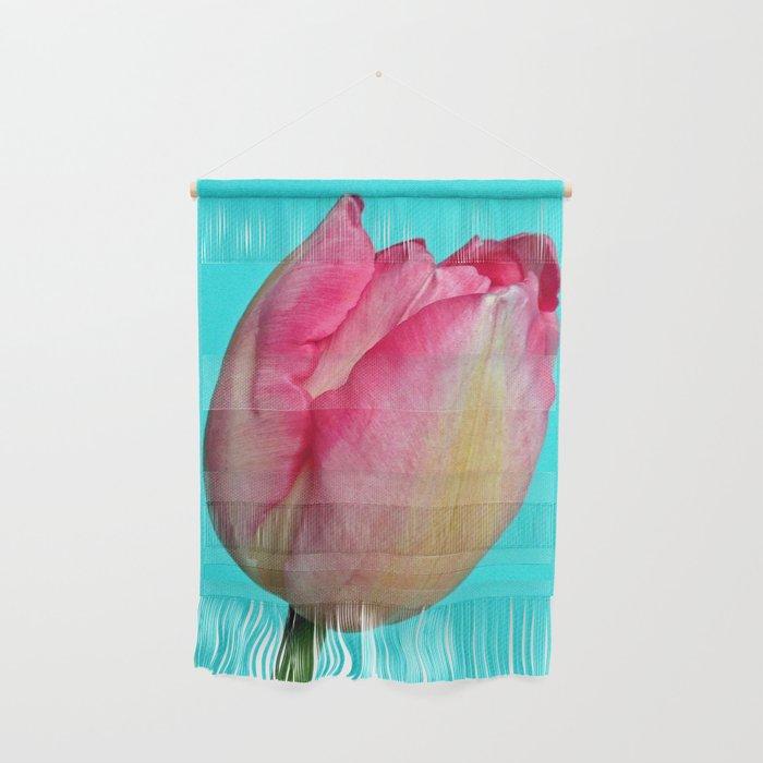 Blushing Pink Sun-kissed Tulip Wall Hanging