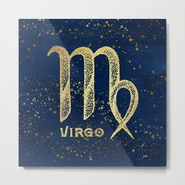 Virgo Zodiac Sign Metal Print
