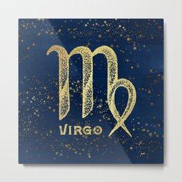 Virgo Zodiac Sign Metal Print