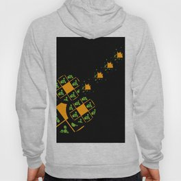 Orange and Green Spaces 110 Hoody
