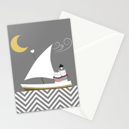 Nautical Sailor Cats Stationery Cards