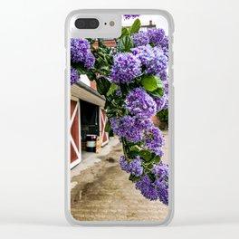 Purple Flowers at the Botanical Garden in Copenhagen Clear iPhone Case