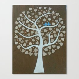 Wedding Guest Book Tree Canvas Print