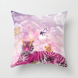Kitty Queen Throw Pillow