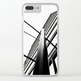 Black Lines Clear iPhone Case