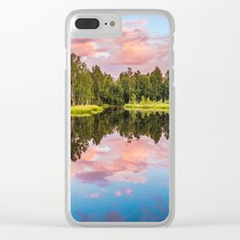 End of the summer day Clear iPhone Case
