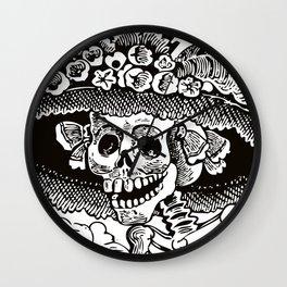 Calavera Catrina | Black and White Wall Clock