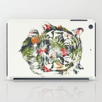 tiger iPad Cases featuring Tropical tiger by Robert Farkas