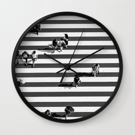 Tokyo Print Shibuya Crossing Print Black and White Urban Street Photography Print Aerial Photography Poster Wall Clock