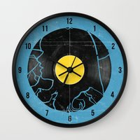 500 days of summer Wall Clocks featuring (500) Days of Summer by Bill Pyle
