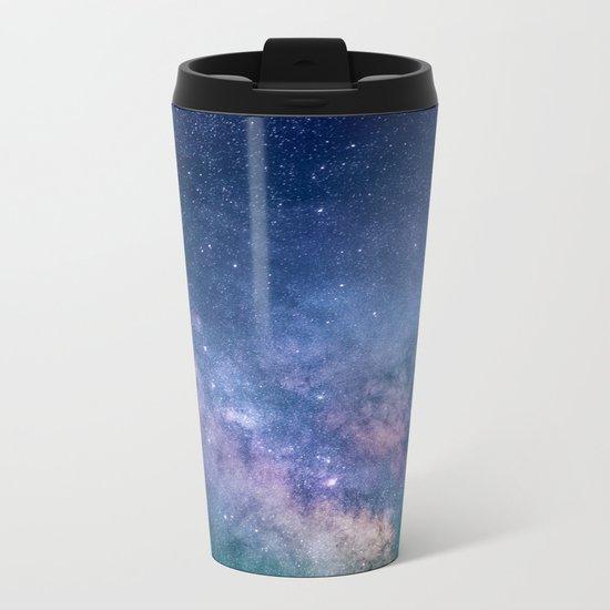 Milky Way Stars (Starry Night Sky) Metal Travel Mug
