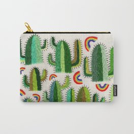 Cacti and Rainbows Carry-All Pouch