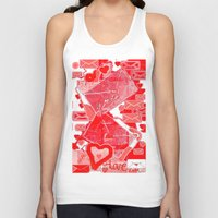 letters Tank Tops featuring love letters by sladja