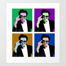 Sebastian Stan Pop Art Art Print