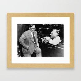 Franklin Roosevelt and Fiorello LaGuardia in Hyde Park - 1938 Framed Art Print