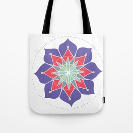 Purple Merrymaking Mandala Tote Bag
