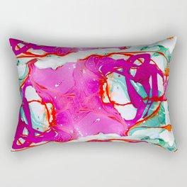 A pink marble Rectangular Pillow