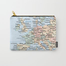 World Map Europe Carry-All Pouch