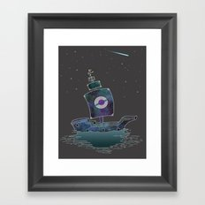 The Adventures Of The Space Ship! Framed Art Print