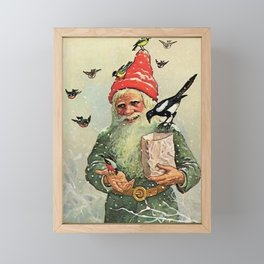 """A Bag of Birdseed"" by Jenny Nystrom Framed Mini Art Print"