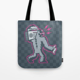 Big Foot with a Boombox Tote Bag