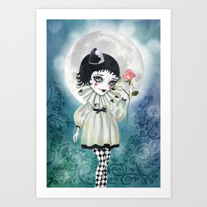 Pierrette Under the Icy Moon Kunstdrucke