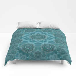 Wood and stars in the blue pop art Comforters