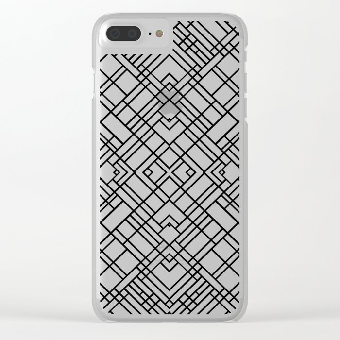 Map Outline 45 R Black Clear iPhone Case