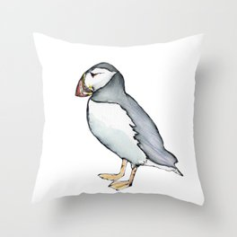 puffin 3 Throw Pillow