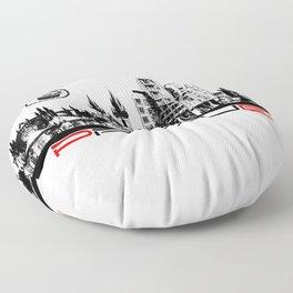 Prague black and white Floor Pillow