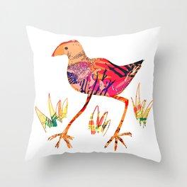 New Zealand Pukeko Throw Pillow