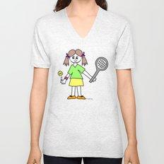 Tennis Girl Unisex V-Neck