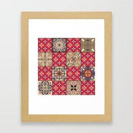 Vintage mosaic talavera ornament Framed Art Print