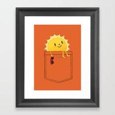 Pocketful of sunshine Framed Art Print