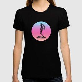Classic Retro Design Praying Skeleton T-shirt