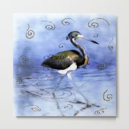 Artfully In Stride Metal Print